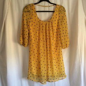 Pinkblush Yellow & Blue Polka Dot Maternity Dress